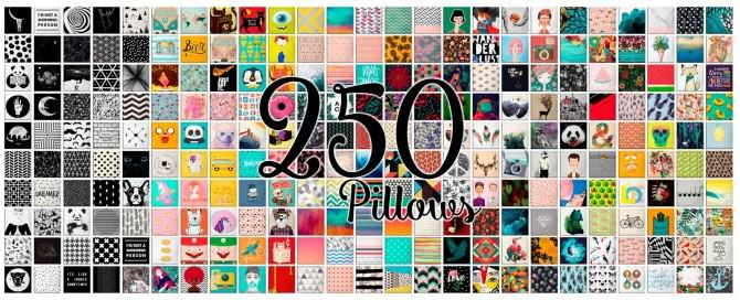 250 pillows set