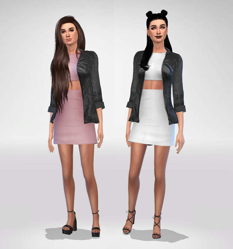 329 - Dress With Leather Jacket