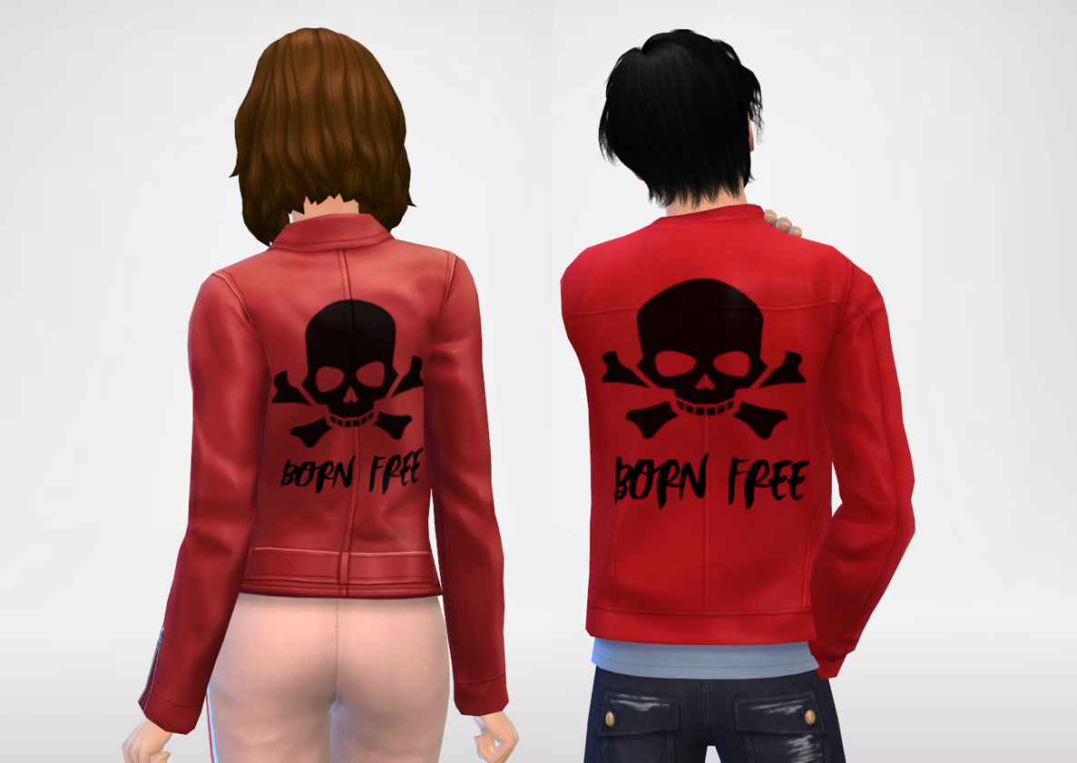 Born Free Red Leather Jacket