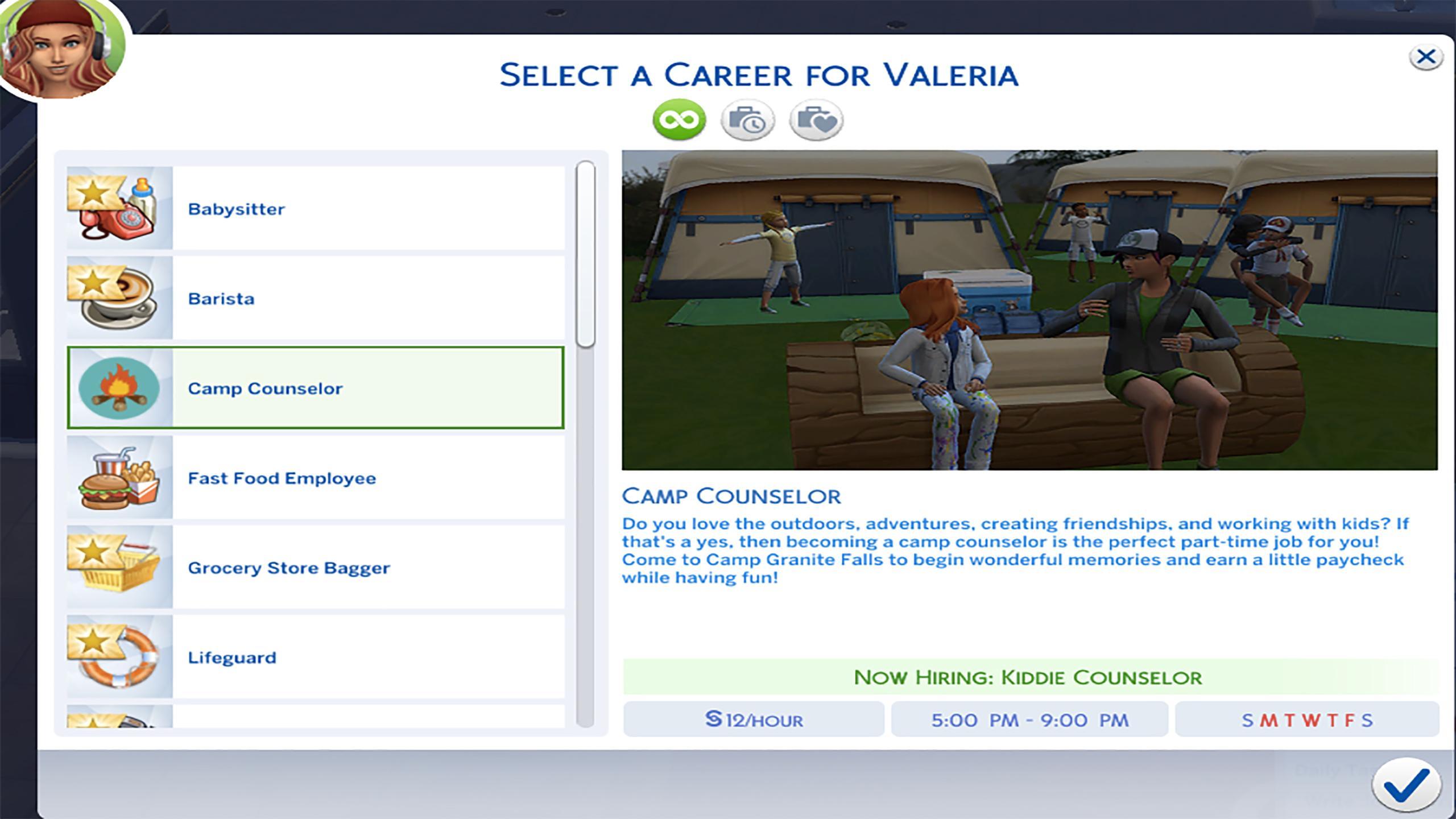 Sims 4 Teen Job Career Set