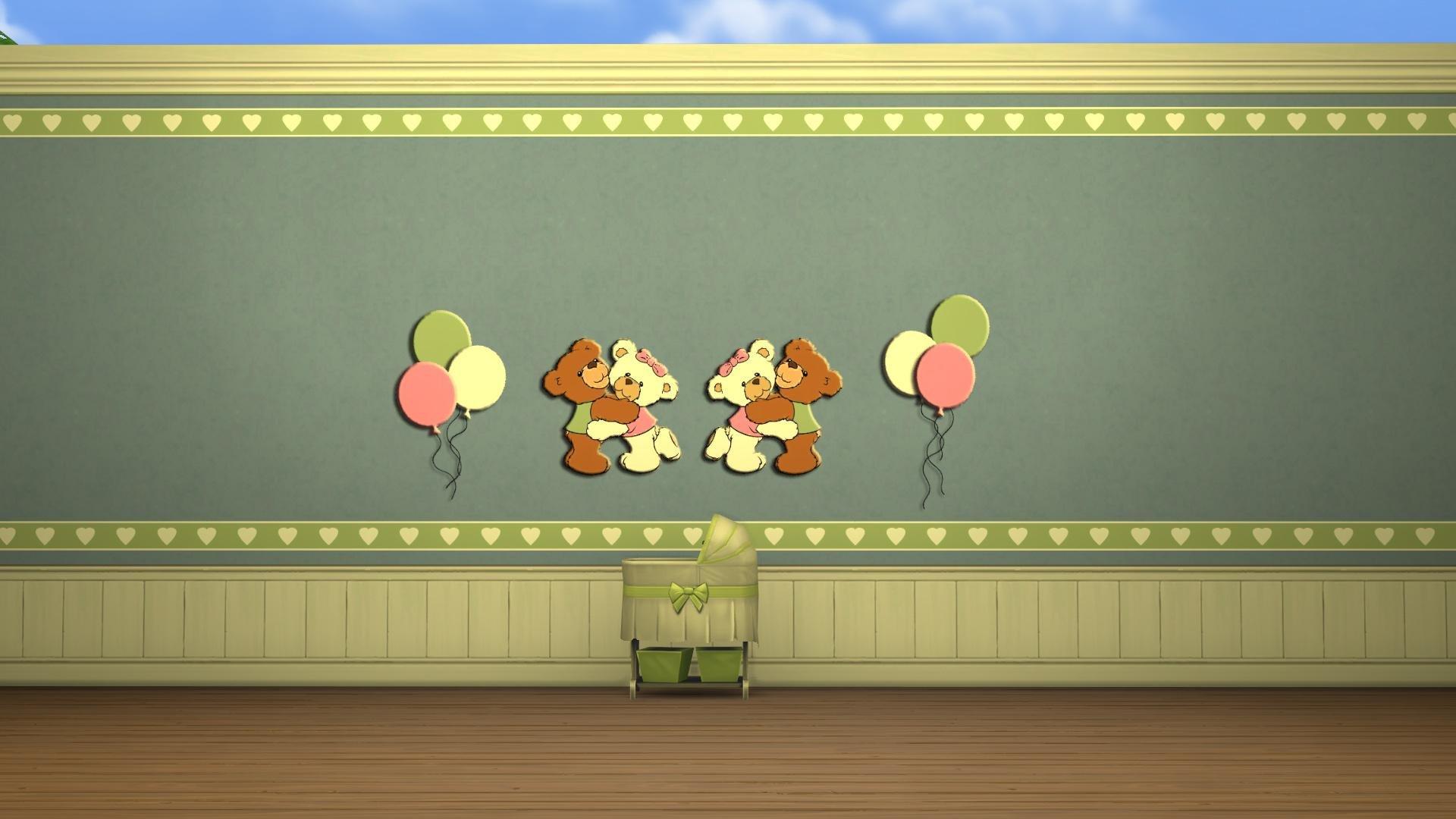 Bears and Balloons Nursery Walls