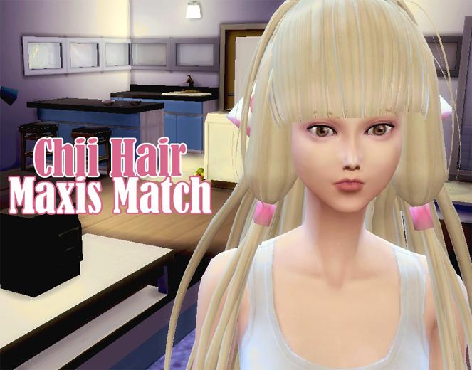 Chii from Chobits Hair - Maxis Match