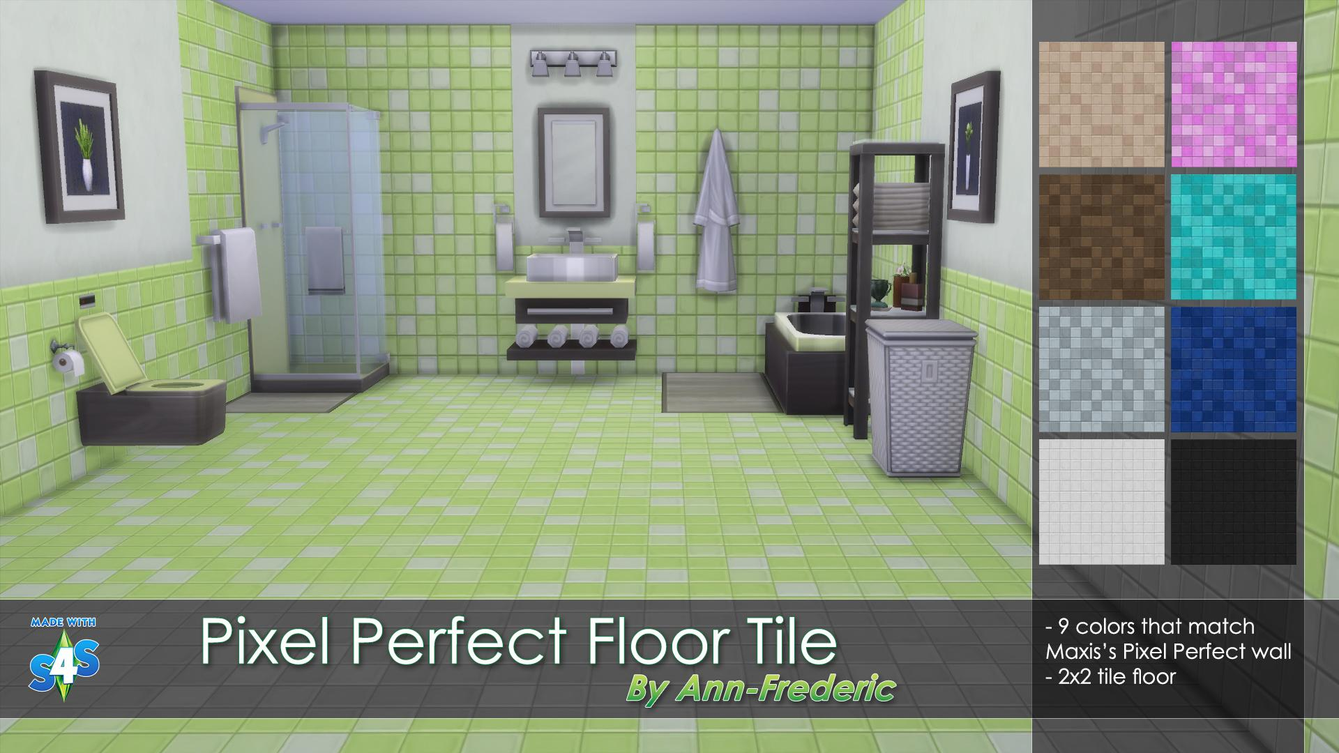 Pixel Perfect Floor Tile, match Maxis's wall