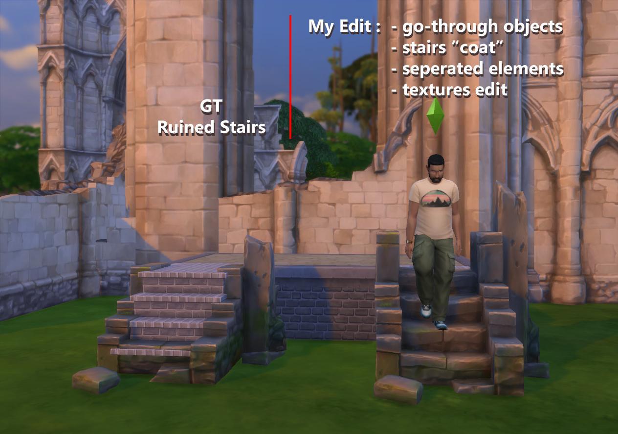 Useful ruin stairs