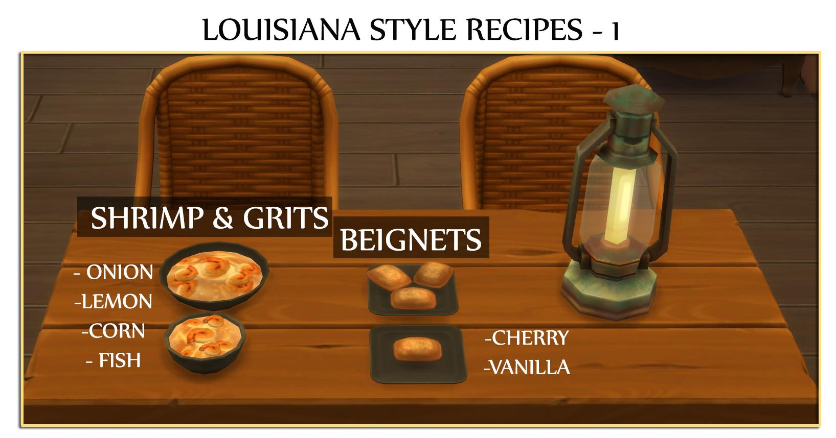Louisiana Style Recipes I - Beignets and Shrimp Grits (Update - 14.12.2019)
