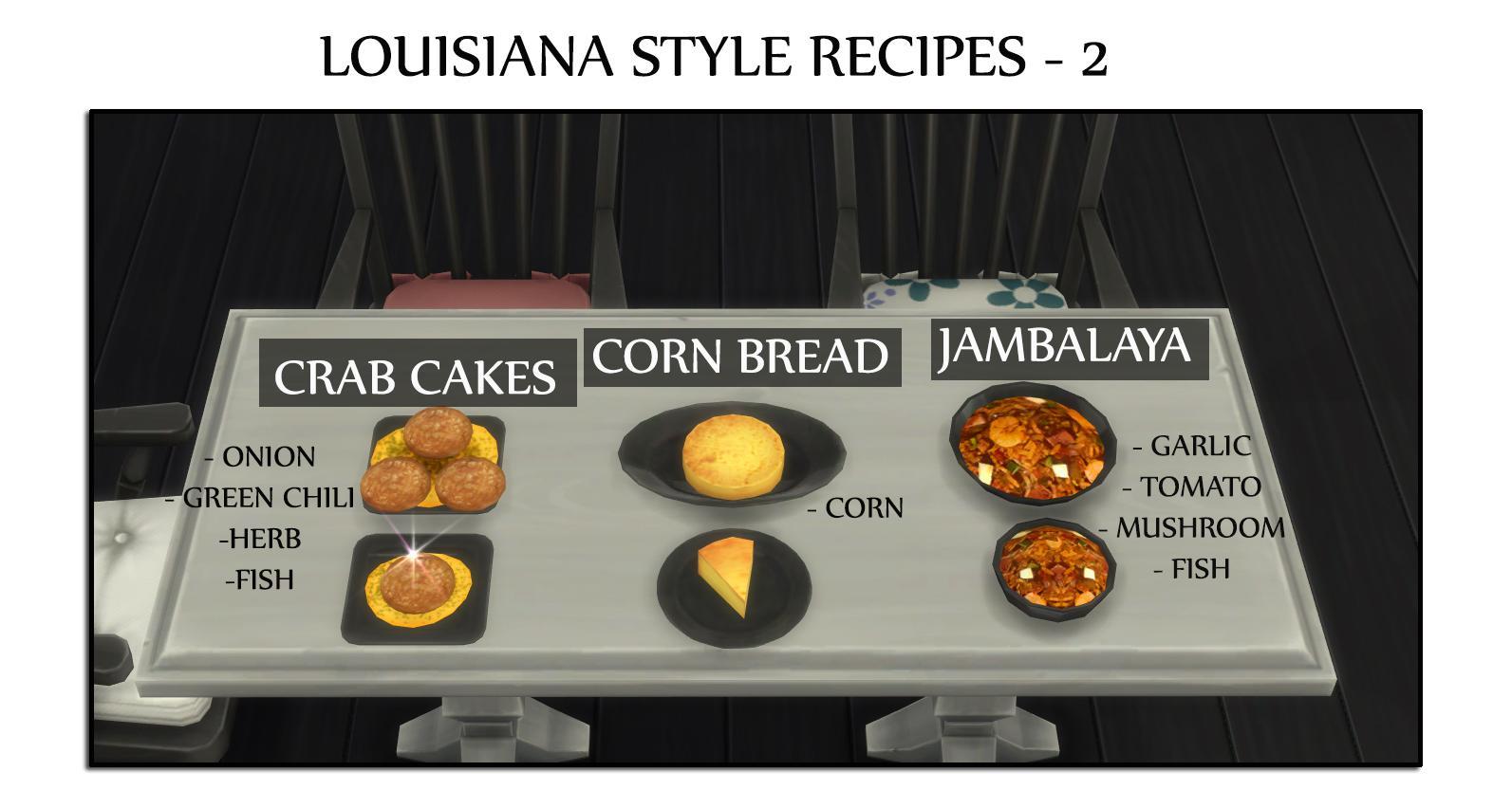 Louisiana Style Recipes 2 - Cornbread, Crabcake (Update 14.12.2019 )