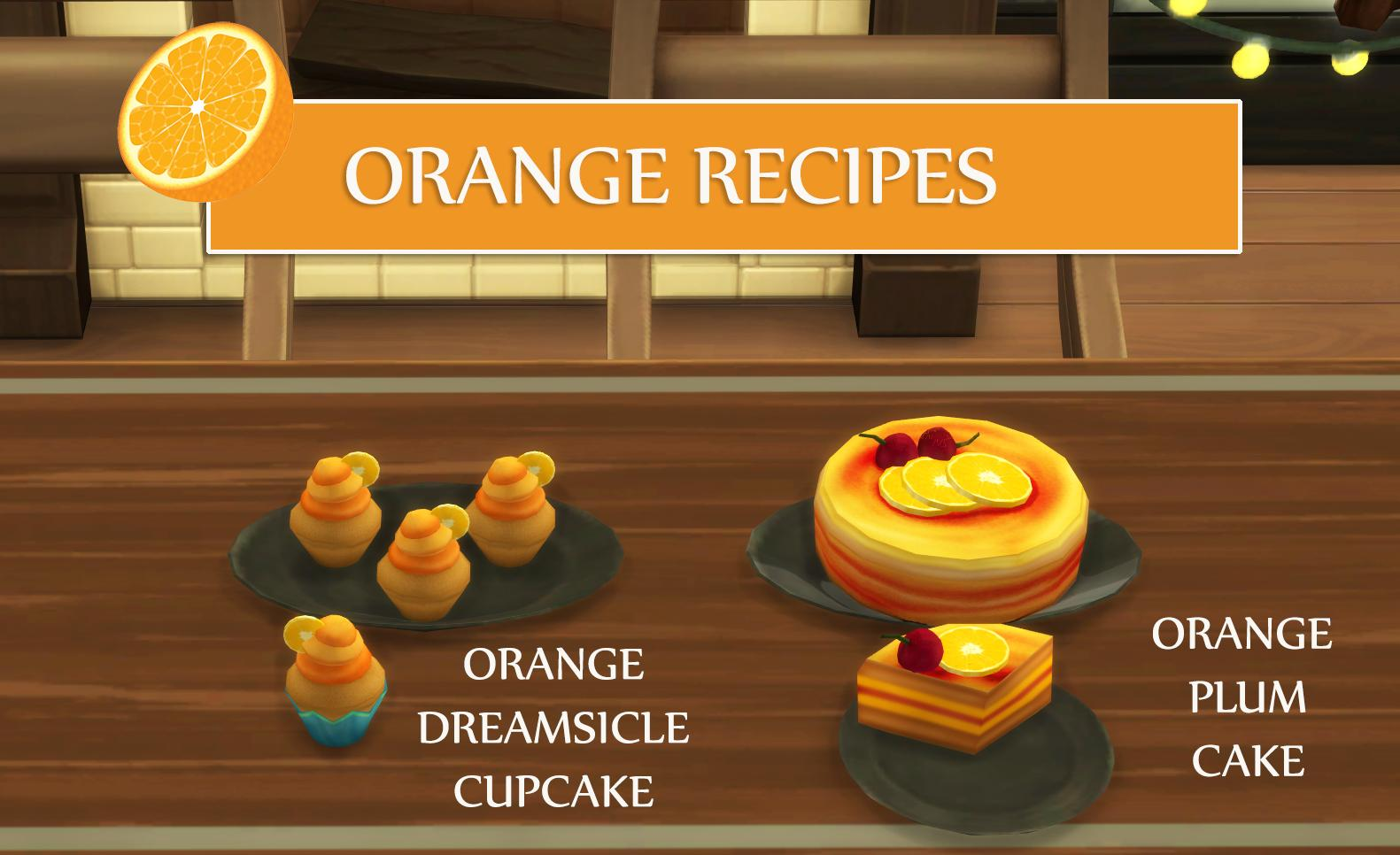 Orange Recipes - Orange Cupcake and Orange Plum Cake (Updated - 14.12.2019)