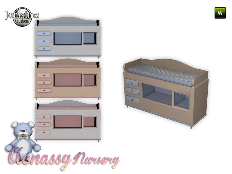 acnassy nursery deco changing table