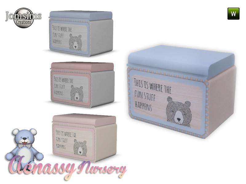 acnassy nursery toybox