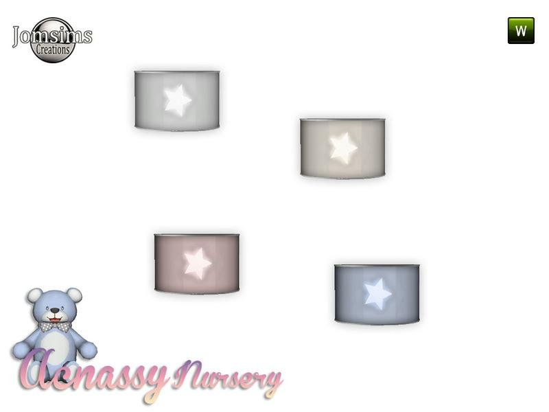 acnassy nursery wall light