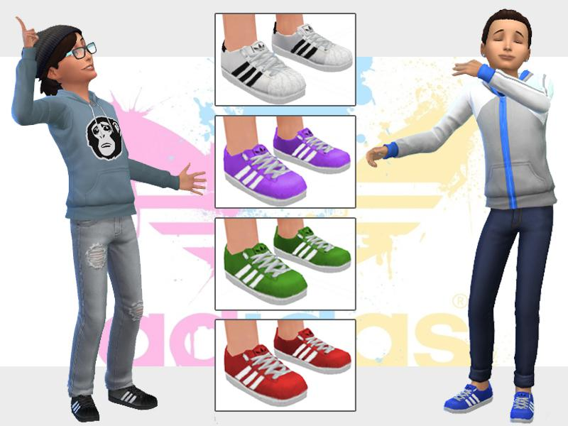 Adidas Shoes for Sims Kids
