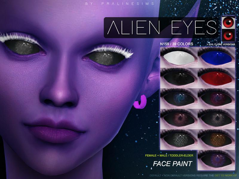 alien eyes set