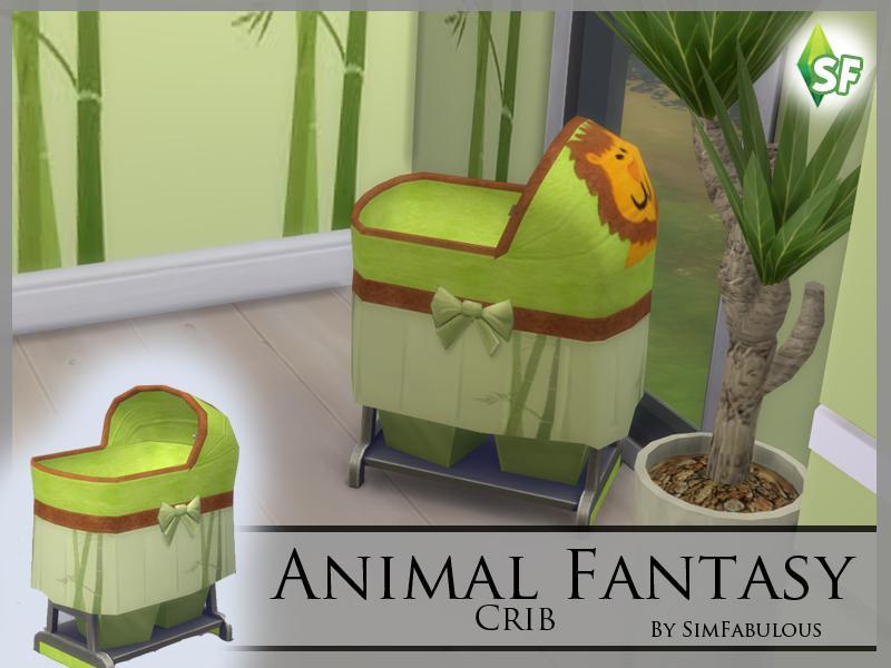 Animal Fantasy Crib
