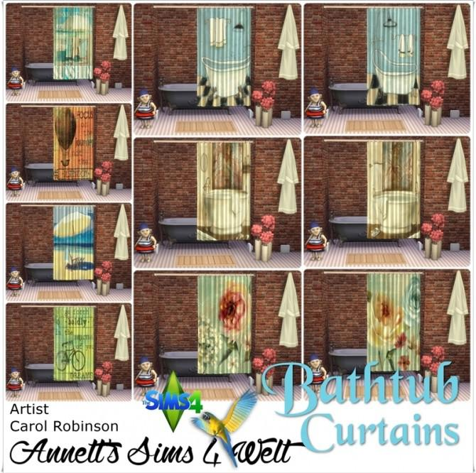 Bathtub Curtains with Carol Robinson Pictures