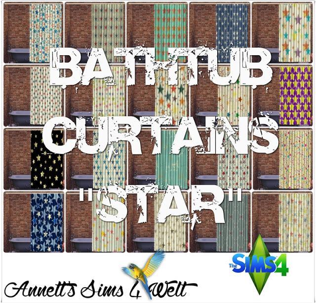 Bathtub Star Curtains