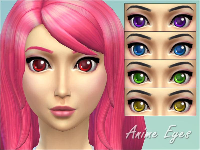 blue anime eyes