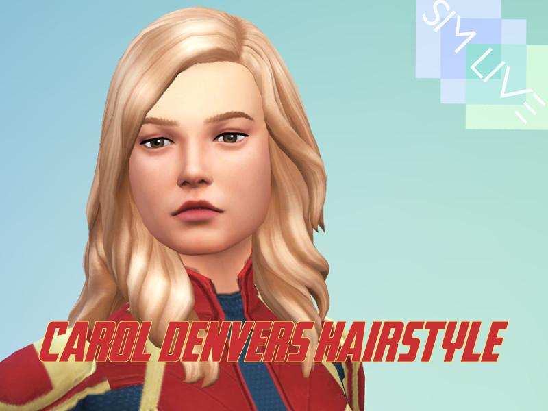Carol Denvers Hairstyle Maxis Match