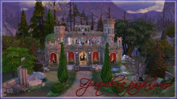 Castle ruins nightclub