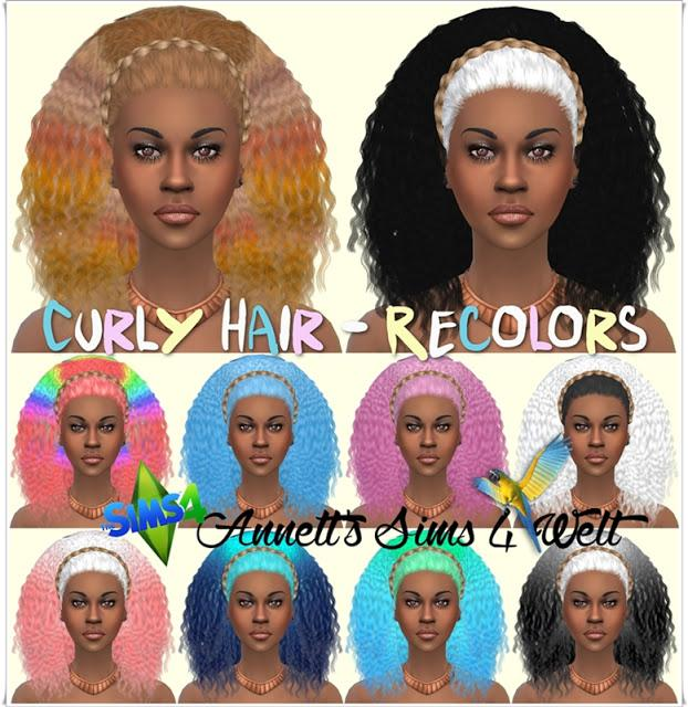 curly hair recolor