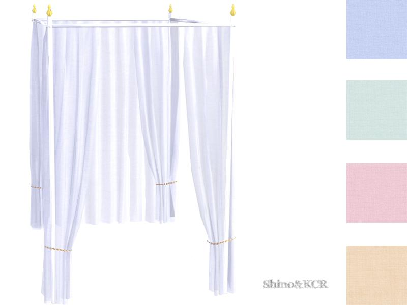 Curtains and Canopy's - Canopy Doublebed Bar White Gold