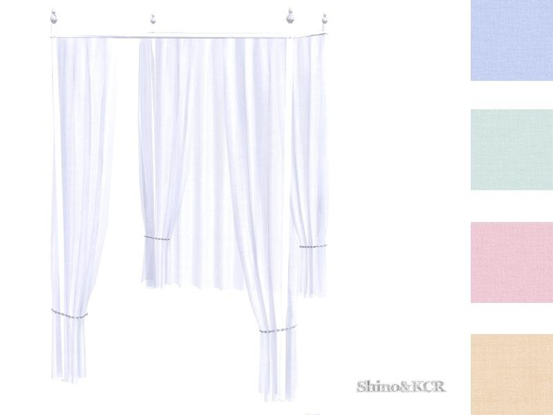 Curtains and Canopy's - Canopy Doublebed Bar White Silver
