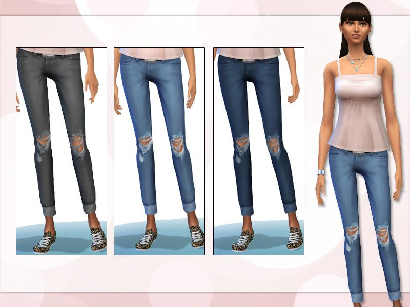 Distressed Jeans Maxis Match