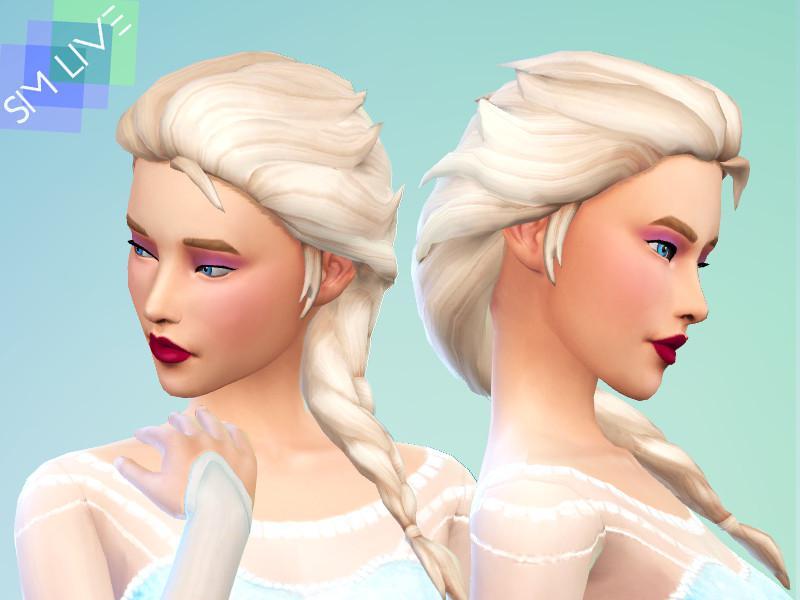 Elsa Braided Hair Maxis Match
