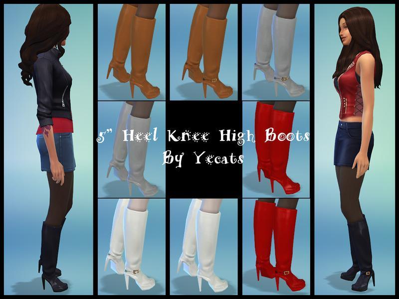 Five Inch Heel Knee High Boots