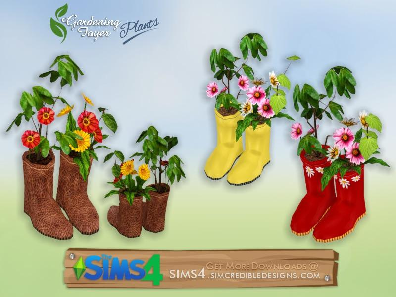 Gardening Foyer plants - flowers in galoshes
