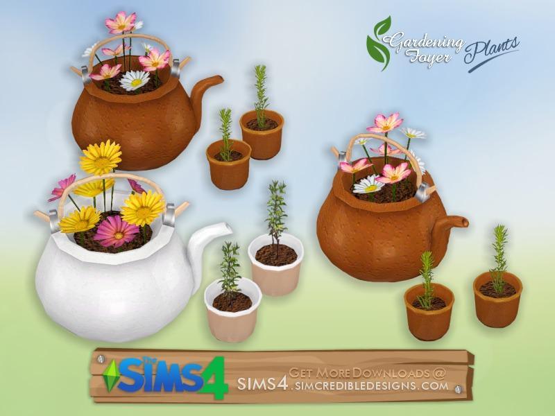 Gardening Foyer plants - tea set
