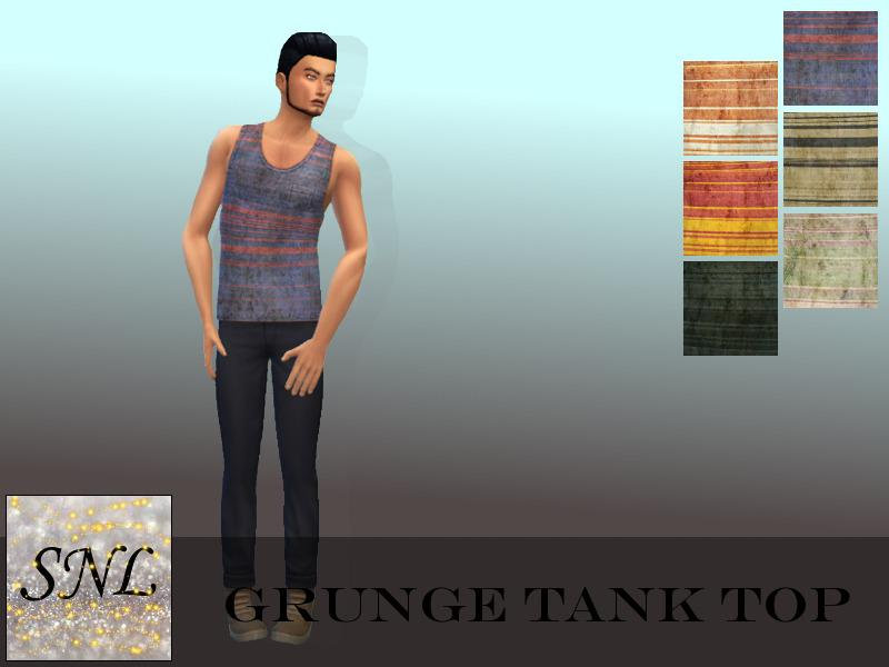 Grunge Stripe Tank Top - Outdoor Retreat needed