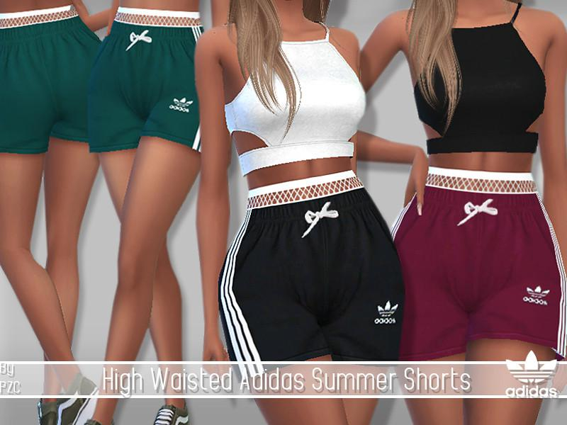 High Waisted Adidas Summer Shorts