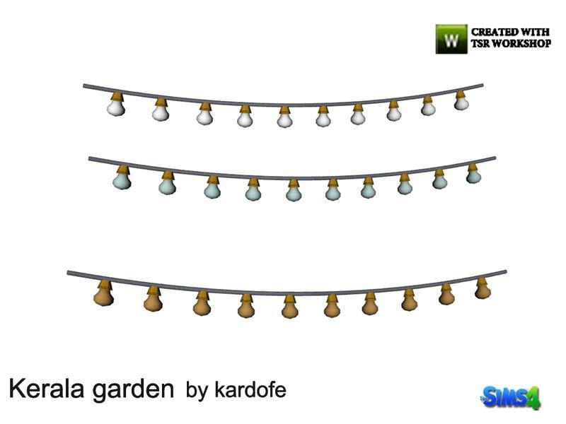 kardofe_Kerala garden_Garland lights