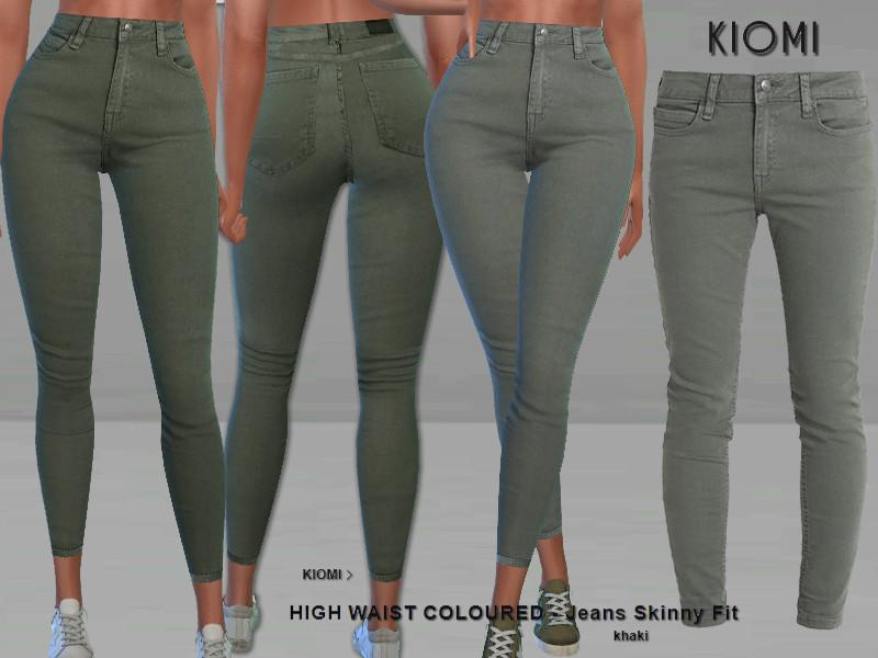 Kiomi High Waisted Jeans Skinny Fit