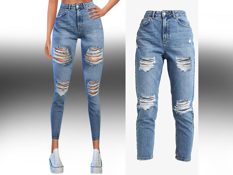 Levi's High Waist Ripped Jeans
