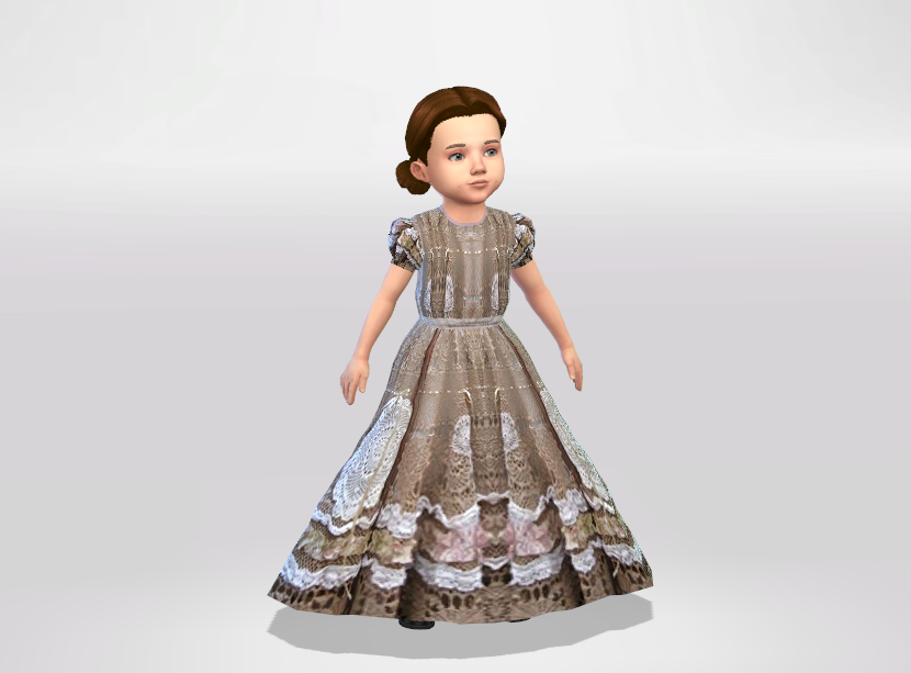 Long toddler formal dress