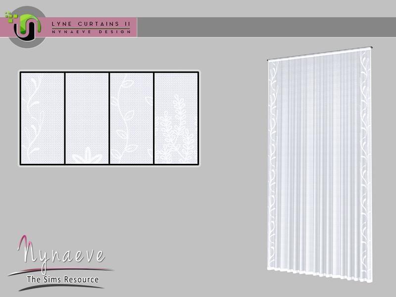 Lyne Curtains II - Medium Sheers 2x1