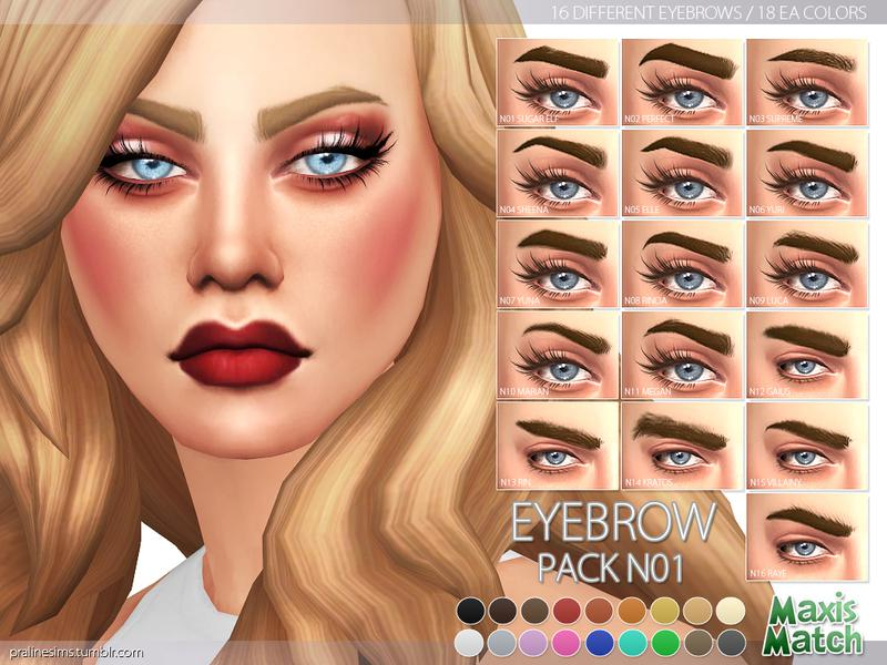 Maxis Match Eyebrow Pack N01