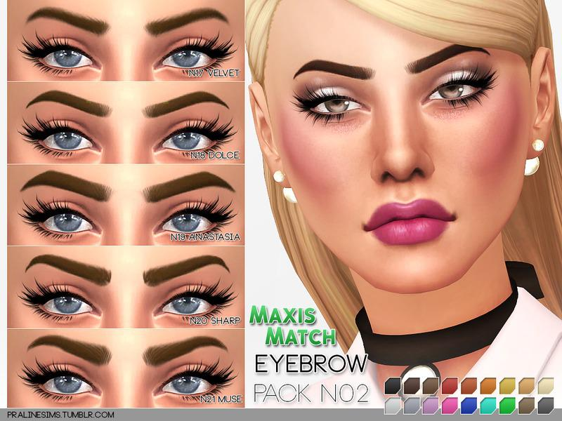 Maxis Match Eyebrow Pack N02