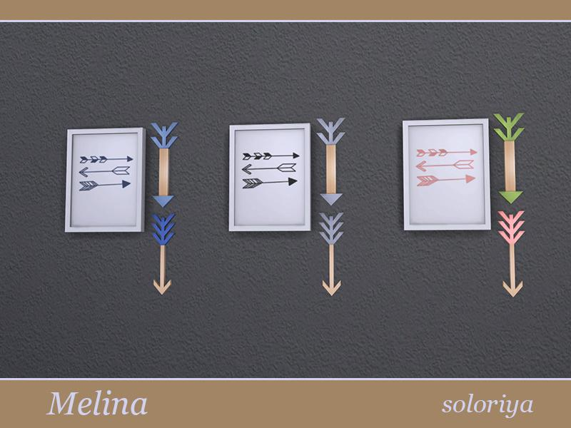 Melina Living Room Painting with Arrows