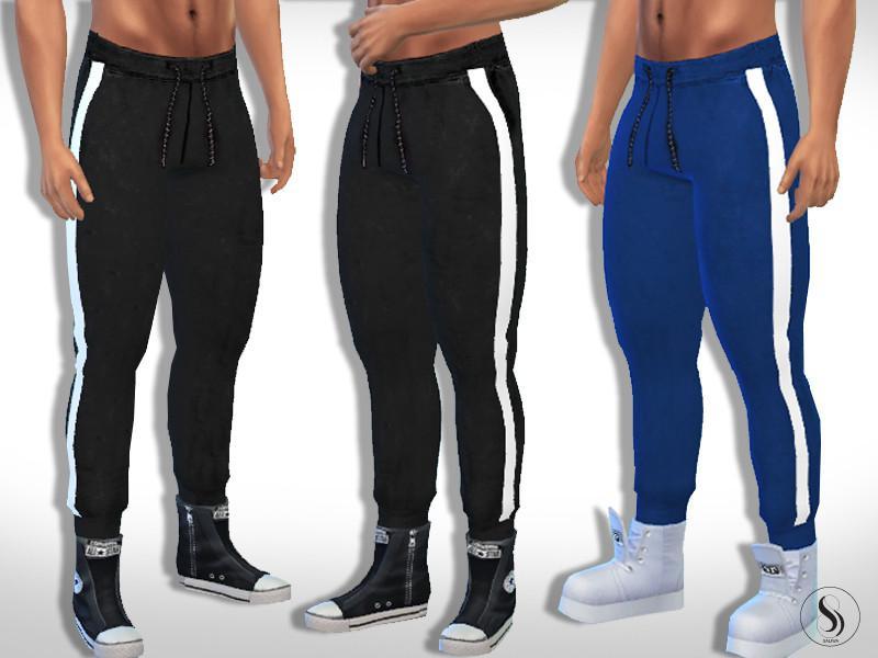 Men Trendy Stripe Joggers
