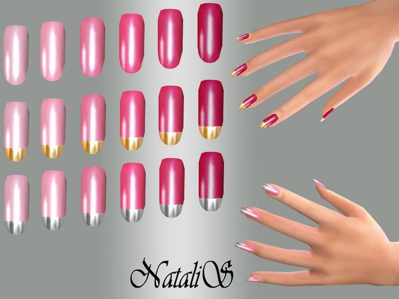 NataliS_TS4 Long nails Pink set FT-FE