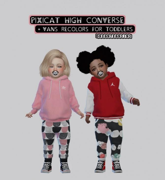 Pixicat High Converse + Vans Recolors for Toddlers