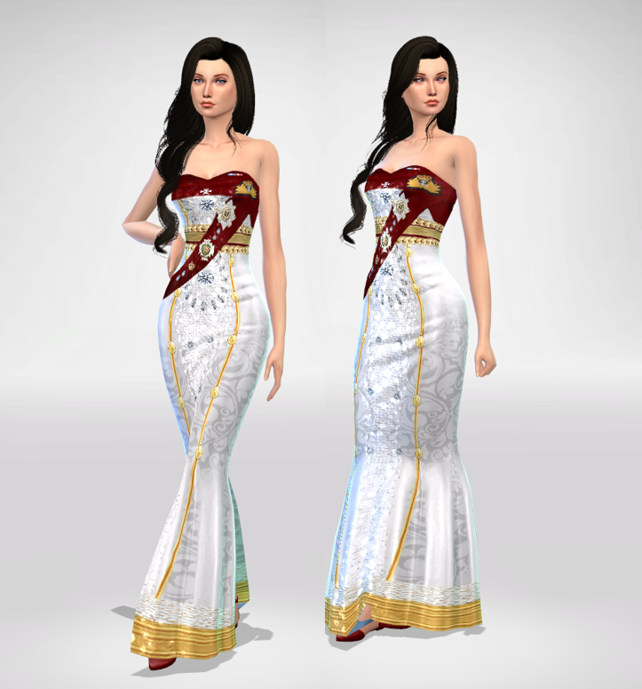 Queen Formal Dress - Bruxel