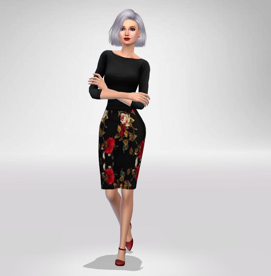 S4 Floral Formal Dress