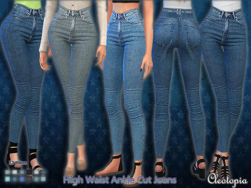 Set38- High Waist Ankle Cut Jeans