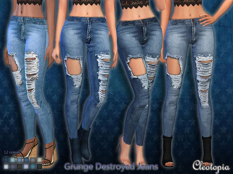 Set39- Grunge Destroyed Jeans