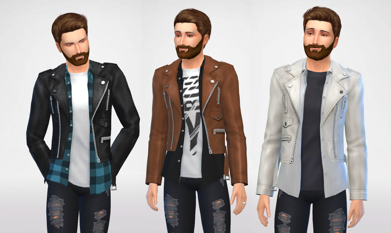 Shirt With Leather Jackets