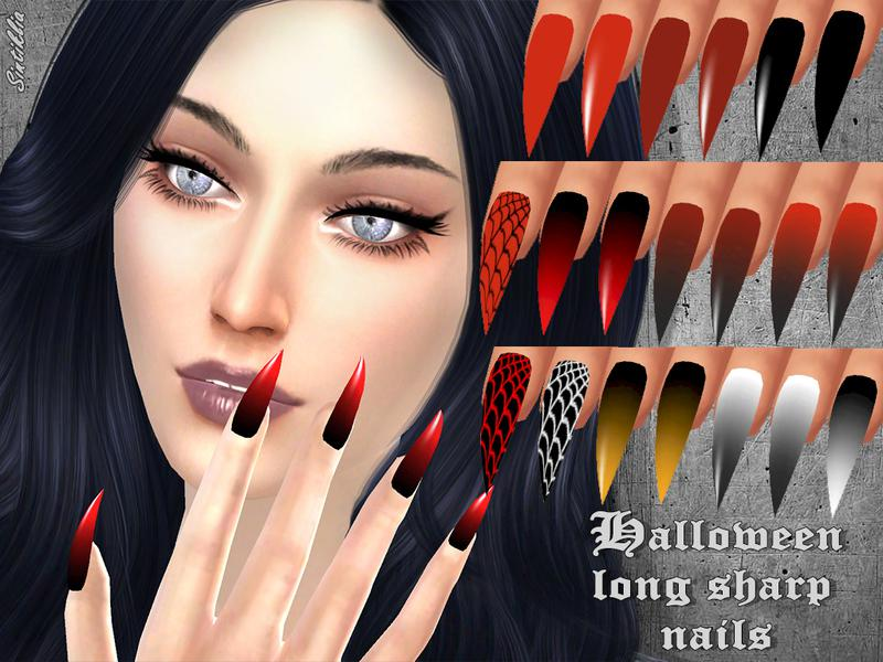 Sintiklia - Halloween sharp long nails