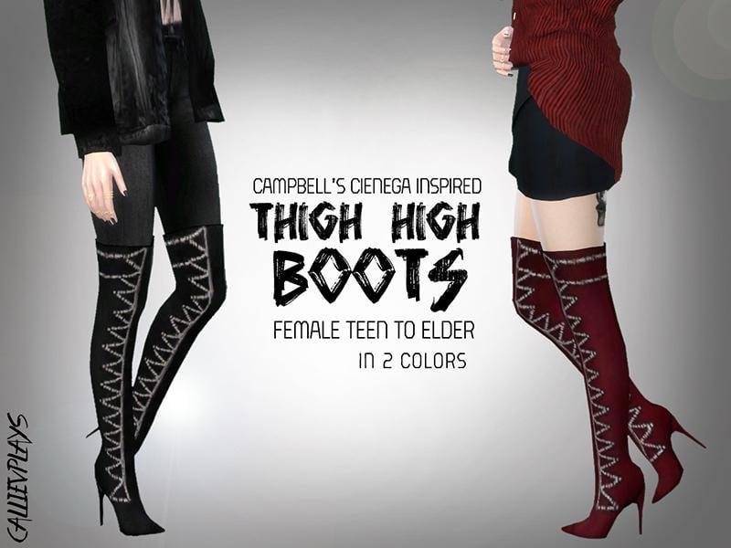 Studded Thigh High Boots
